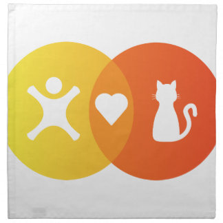 People Heart Cats Venn diagram Napkin