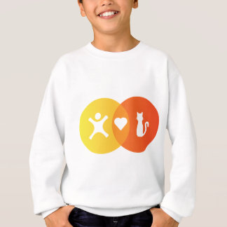 People Heart Cats Venn diagram Sweatshirt