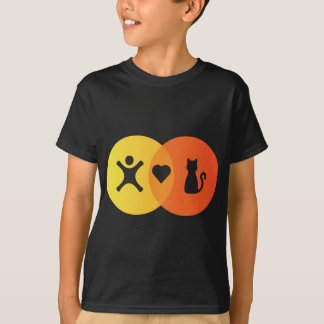 People Heart Cats Venn diagram T-Shirt