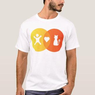 People Heart Cats Venn diagram T-Shirt
