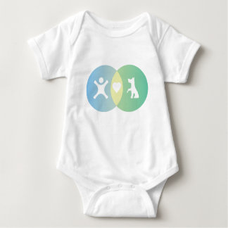 People Heart Dogs Venn diagram Baby Bodysuit