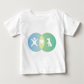 People Heart Dogs Venn diagram Baby T-Shirt