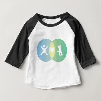 People Heart Dogs Venn diagram Baby T-Shirt