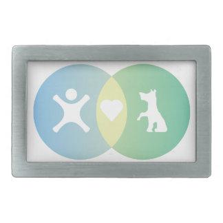People Heart Dogs Venn diagram Belt Buckle