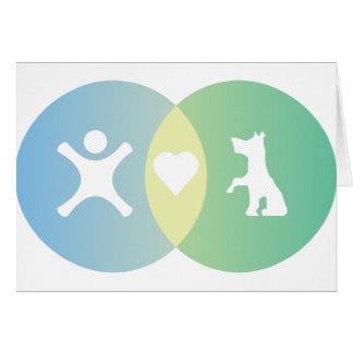 People Heart Dogs Venn diagram Card