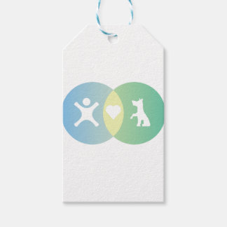 People Heart Dogs Venn diagram Gift Tags
