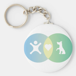 People Heart Dogs Venn diagram Keychain
