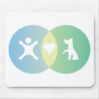 People Heart Dogs Venn diagram Mouse Pad