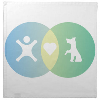 People Heart Dogs Venn diagram Napkin