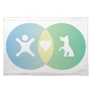 People Heart Dogs Venn diagram Placemat