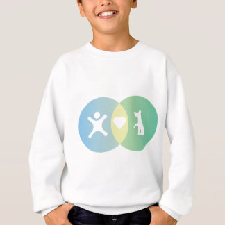 People Heart Dogs Venn diagram Sweatshirt