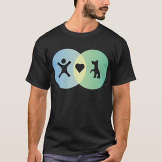 People Heart Dogs Venn diagram T-Shirt