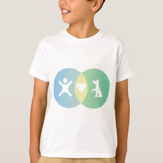 People Heart Dogs Venn diagram T-Shirt