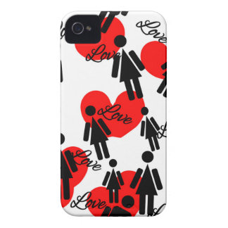 People & Hearts Lovely Valentine's Pattern Case-Mate iPhone 4 Case