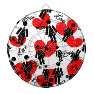 People & Hearts Lovely Valentine's Pattern Dartboard