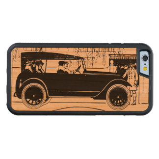 People in an old car carved cherry iPhone 6 bumper case
