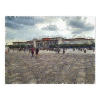 People in front of Great Hall of China Photographic Print