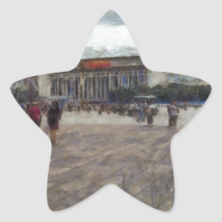 People in front of Great Hall of China Star Sticker