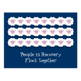 People in recovery flock together postcard