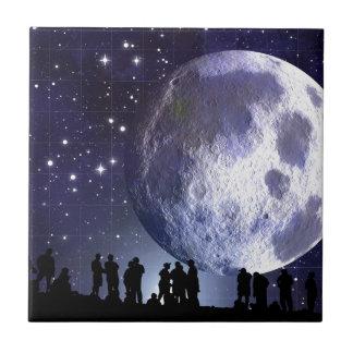 People Moon Night Peace Love Art Party Destiny Ceramic Tiles