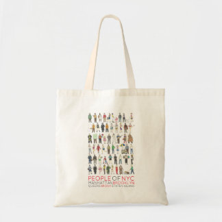 People of NYC Manhattan Brooklyn Bronx Queens Tote