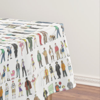 People of NYC New York City Citizens Neighbors Tablecloth