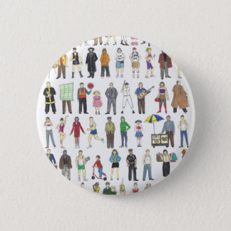 People of NYC New York City Neighborhoods Citizens 2 Inch Round Button