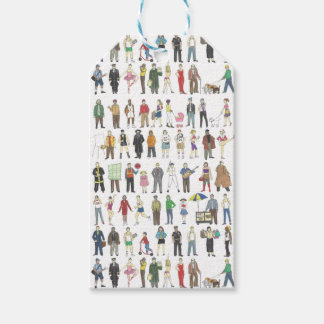 People of NYC New York City Watercolor Gift Tag