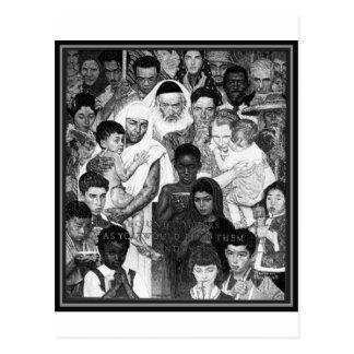 People of Peace tone Postcard
