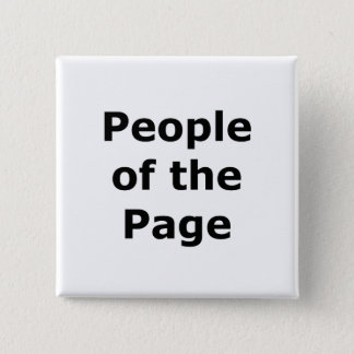 People of the Page 2 Inch Square Button