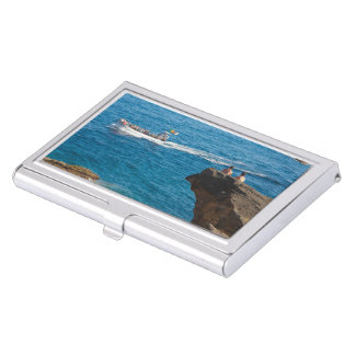 People on an islet business card case