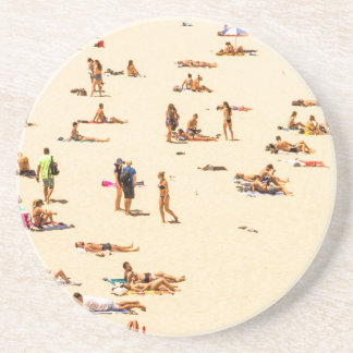 People On Beach Sandy Coaster