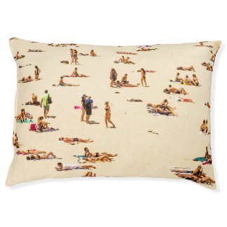 People On Beach Sandy Pet Bed
