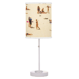 People On Beach Sandy Table Lamp