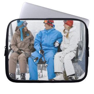 People on Ski Lift, Whistler-Blackcomb, British Computer Sleeves
