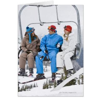 People on Ski Lift, Whistler-Blackcomb, British Greeting Card