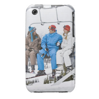 People on Ski Lift, Whistler-Blackcomb, British iPhone 3 Case-Mate Case
