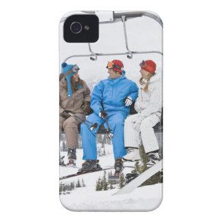 People on Ski Lift, Whistler-Blackcomb, British iPhone 4 Case-Mate Case