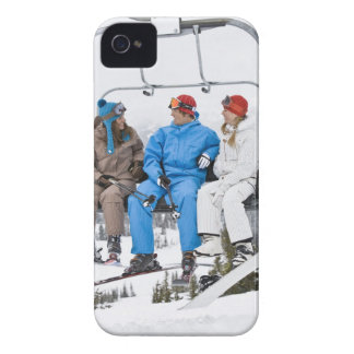 People on Ski Lift, Whistler-Blackcomb, British iPhone 4 Cover