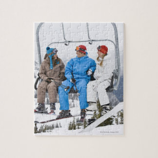 People on Ski Lift, Whistler-Blackcomb, British Jigsaw Puzzles