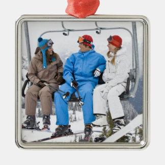 People on Ski Lift, Whistler-Blackcomb, British Christmas Tree Ornaments
