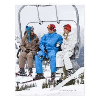 People on Ski Lift, Whistler-Blackcomb, British Postcard