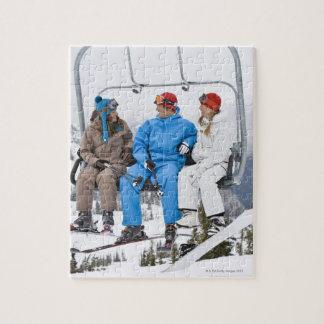 People on Ski Lift, Whistler-Blackcomb, British Puzzle