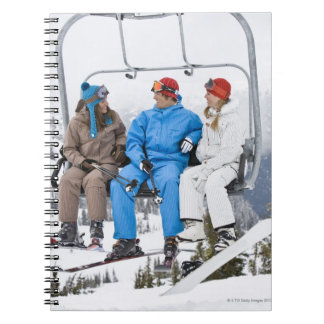 People on Ski Lift, Whistler-Blackcomb, British Spiral Note Book