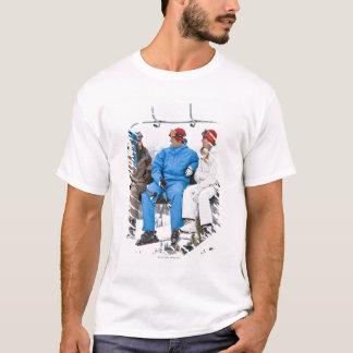 People on Ski Lift, Whistler-Blackcomb, British T-Shirt