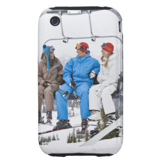 People on Ski Lift, Whistler-Blackcomb, British Tough iPhone 3 Cover