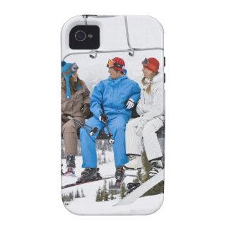 People on Ski Lift, Whistler-Blackcomb, British Vibe iPhone 4 Cases
