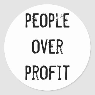 """People over profit"" Sticker"