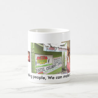 People reaching people coffee mug