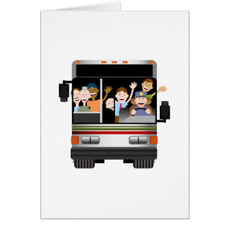 People Riding on a Bus Greeting Card